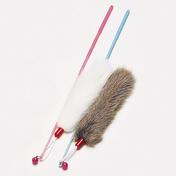 펫모닝 방울소리 토끼털 오뎅 막대 1개 색상랜덤