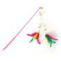 펫모닝 3색 트윈 깃털 낚싯대 색상랜덤