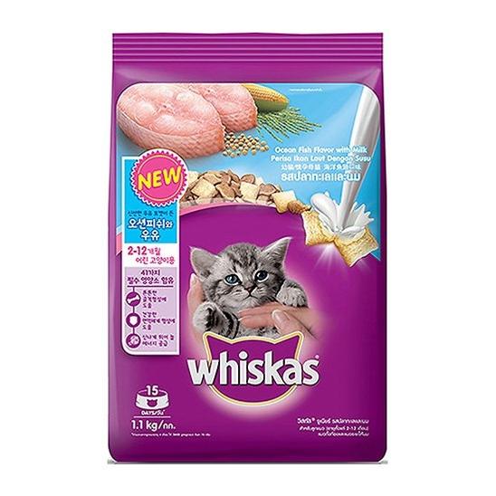 위스카스 키튼 오션피쉬와 우유 1.1kg 사진