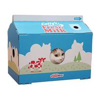 캐티맨 고양이 스크래쳐 하우스 밀크