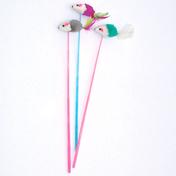 펫모닝 깃털꼬리 마우스 막대쥐 1개 색상랜덤