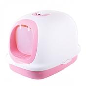 마칼 자이언트캣 후드 화장실 핑크