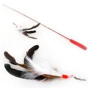 펫모닝 플라잉캣 수탉 깃털 낚싯대