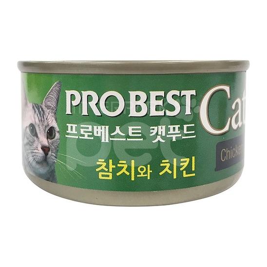 프로베스트 캣 참치&치킨 캔 80g 사진