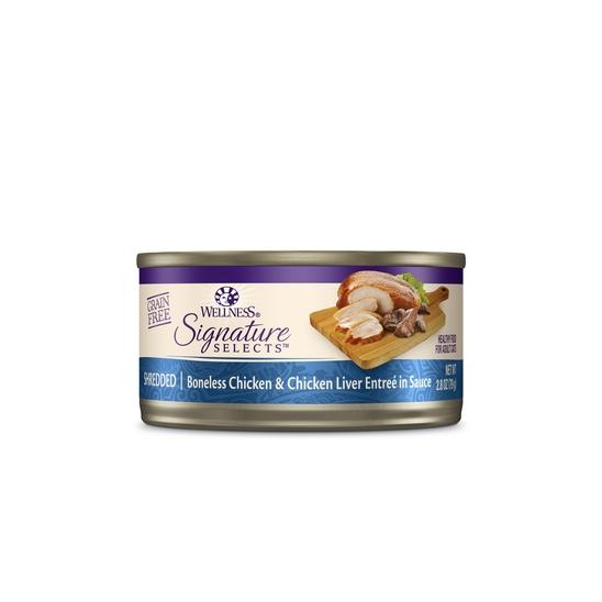 웰니스 코어 시그니쳐 셀렉트 슈레드 닭고기와 닭간 79g 사진