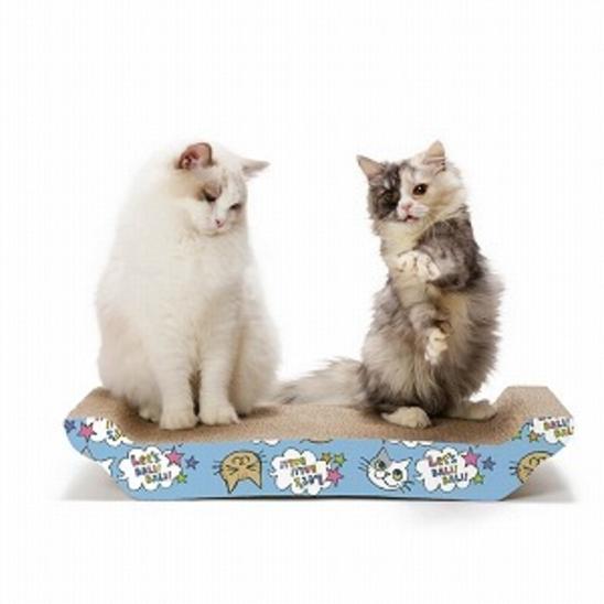 네코이찌 바리바리베드 고양이무늬 스크래쳐 L 사진