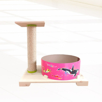 힐링타임 띵가띵가 물고기 버닝 스크래쳐 핑크 + 리필