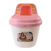 키플 탑엔트리 고양이화장실 핑크