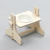 힐링타임 반려동물 높이조절 원목식탁 도자기 화이트 1구