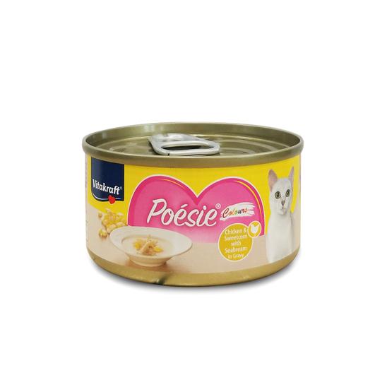 비타크래프트 포에시 컬러스캔 치킨 옥수수&도미 그레이비소스 70g 사진