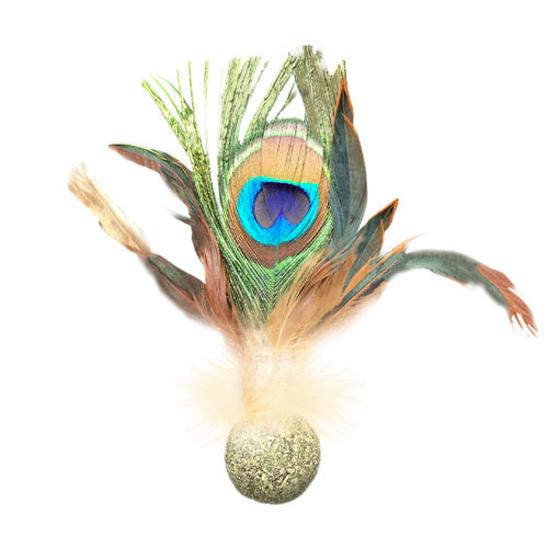 캣완트 공작깃털 캣닢볼 사진