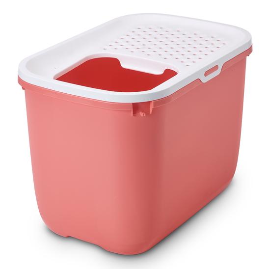 사빅 홉인 고양이 화장실 핑크 사진