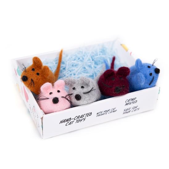 루어캣 양모볼 선물박스 마우스 5개입 사진