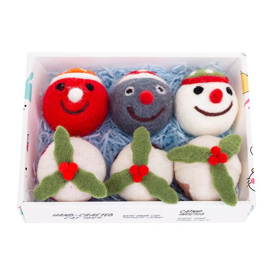 루어캣 양모볼 선물박스 스노우맨헤드&과일 6개입 사진