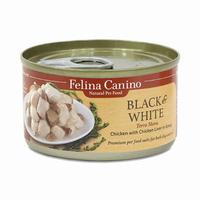 펠리나 캐니노 블랙앤화이트 닭고기와 닭간 캔 85g