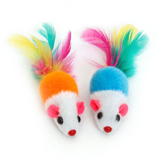 펫모닝 캣닢 컬러 마우스 2개입 색상랜덤 사진