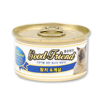 굿프랜드 참치&게살 고양이 캔 85g