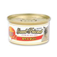 굿프랜드 참치&닭고기 고양이 캔 85g