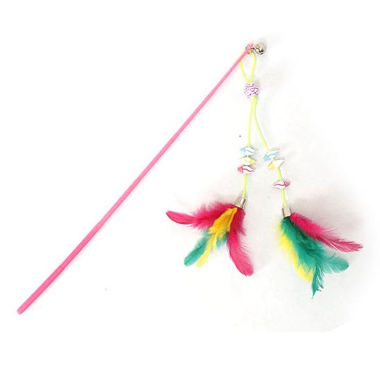 펫모닝 3색 트윈 깃털 낚싯대 색상랜덤 사진