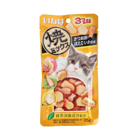 이나바 야끼믹스 가다랑어포&조개&오징어맛 25g 사진