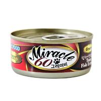 미라클 그레이비 참치&생선 캔 60g