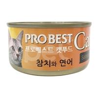 프로베스트 캣 참치&연어 캔 80g