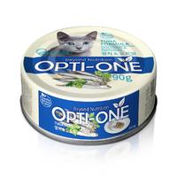 사조 옵티원 흰살참치 멸치&오트밀 고양이 캔 90g