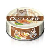 사조 옵티원 흰살참치 연어&아마씨 고양이 캔 90g