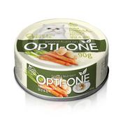 사조 옵티원 흰살참치 당근&감자 고양이 캔 90g