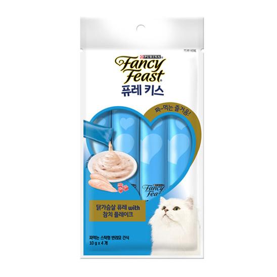 퓨리나 팬시피스트 퓨레키스 닭가슴살&참치플레이크 10g 4개입 사진