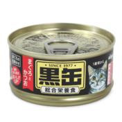 아이시아 흑관 미니 참치&가다랑어 주식 캔 80g