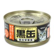 아이시아 흑관 미니 닭가슴살이 들어간 참치&가다랑어 주식 캔 80g