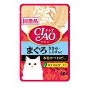챠오 수프 참치&닭가슴살&치어맛 파우치 40g