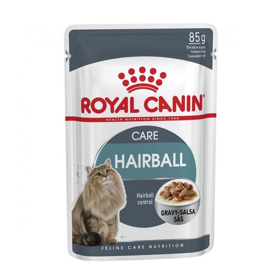 로얄캐닌 고양이 헤어볼케어 그레이비 파우치 85g 사진