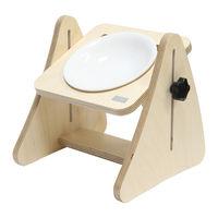 제프리공방 높이조절 원목식탁 1구 프리미엄 (식기포함)