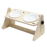 제프리공방 높이조절 원목식탁 2구 기본형 (식기포함)