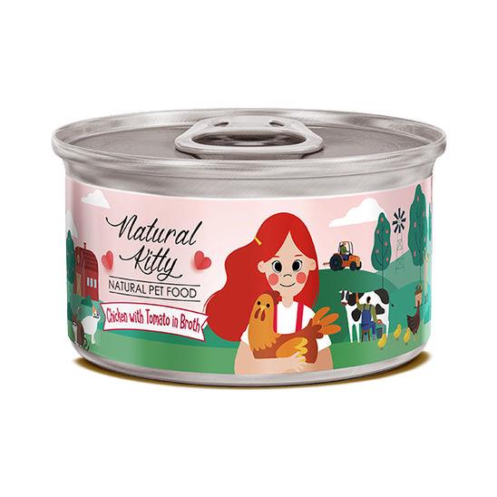 내추럴 키티 내추럴 캔 치킨과 토마토 수프 80g 사진