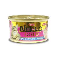 네코 골드 참치&가다랑어포 캔 85g
