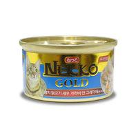 네코 골드 참치&닭고기&새우 캔 85g