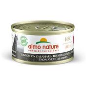 알모네이쳐 HFC 캣 젤리 참치와 오징어 캔 70g