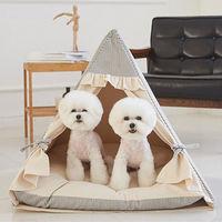 에코펫위드 반려동물 텐트 베이지